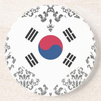 Koop De Vlag van Zuid-Korea Zandsteen Onderzetter