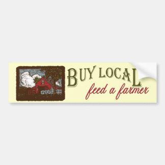 Koop Lokaal, voed een Sticker van de Bumper van de