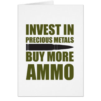 Koop meer Munitie, investeer in Metaal Kaart