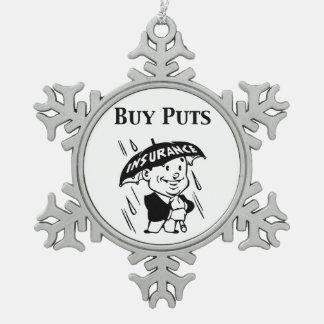 Koop zet tin sneeuwvlok ornament