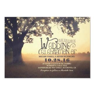 Koord van Huwelijk van de Boom van Lichten het 12,7x17,8 Uitnodiging Kaart