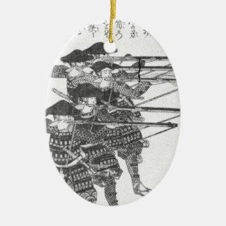 Koorden voor nachtvuren door Utagawa Kuniyoshi Keramisch Ovaal Ornament