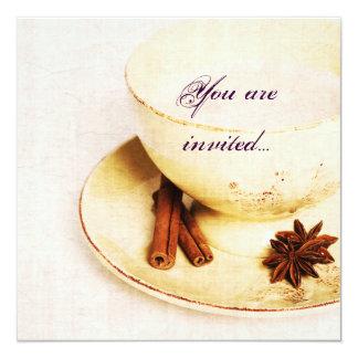kop thee met kruiden - het theekransje nodigt uit kaart