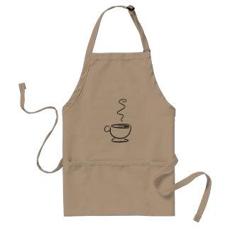 Kop van de Koffie van Barista de Eenvormige Standaard Schort