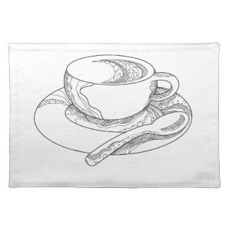 Kop van de Krabbel van de Koffie Placemat