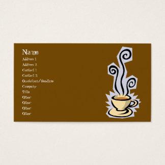 Kop van het Visitekaartje van de Koffie of van de Visitekaartjes