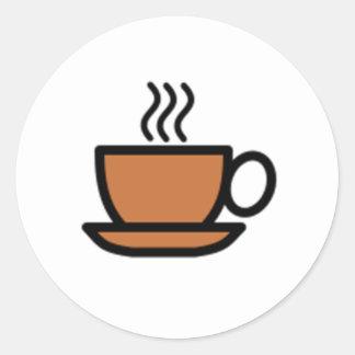 Kop van Koffie Ronde Sticker