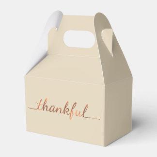 Koper-blik Dankbaar het manuscriptontwerp van de Bedankdoosjes