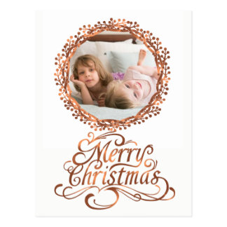 Koper-blik het Vrolijke manuscript van Kerstmis & Briefkaart