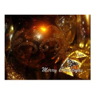 Koper en de Gouden Bollen van Kerstmis Briefkaart