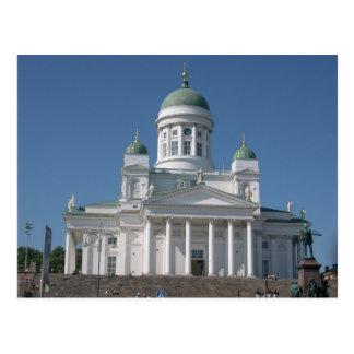 Koper-overkoepelde Kerk in Helsinki Briefkaart