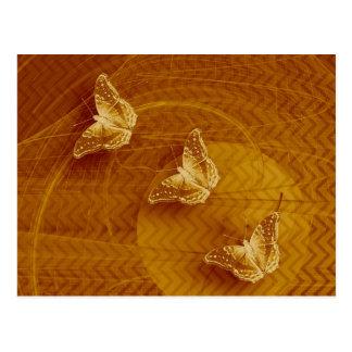 koper vlinders en fractal horizontaal briefkaart