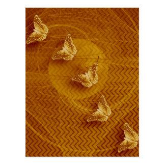 koper vlinders en fractal verticaal briefkaart