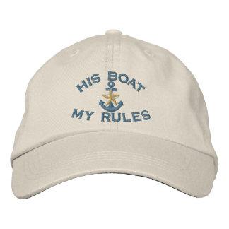 Koppel eerst Zijn Boot Mijn Anker van de Ster van Geborduurde Pet