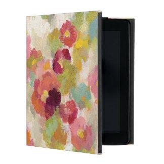 Koraal en Smaragdgroene Tuin iPad Hoesje
