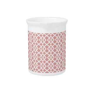 koraal geometrisch patroon bier pitcher