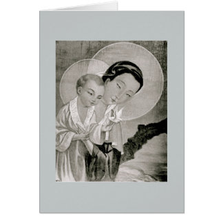 Koreaanse Heilige Mary & Jesus Card Kaart
