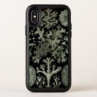 Korstmos door Ernst Haeckel, het Vintage Plant van OtterBox Symmetry iPhone X Hoesje