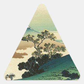 Koshu Inume Toge - het Art. van Katsushika Hokusai Sticker