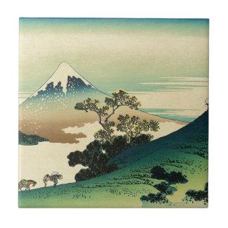 Koshu Inume Toge - het Art. van Katsushika Hokusai Tegeltje