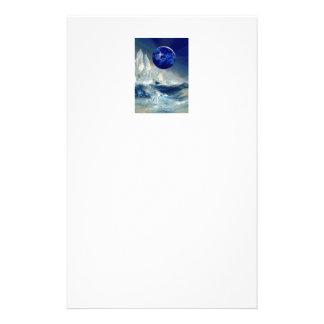 Kosmische Aarde in Nacht en Thomas Moran Iceberg Briefpapier
