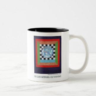 Kosmische Gameboard--Speel Uw Vrede Tweekleurige Koffiemok