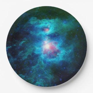 Kosmische Haard Azul Papieren Bordje