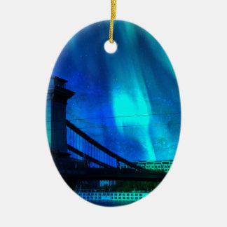 Kosmische Nacht in Boedapest Keramisch Ovaal Ornament