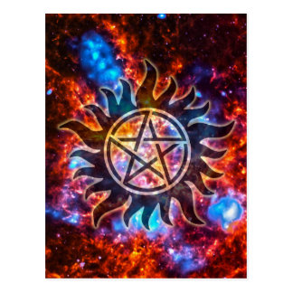 Kosmische Pentagram Briefkaart