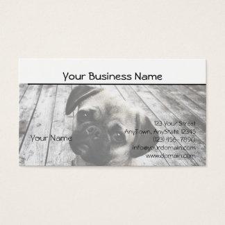 Kostbaar Pug Puppy in Zwart-wit Visitekaartjes