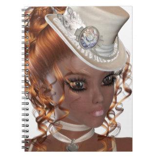 Kostbare Afrikaanse Amerikaanse Vrouw Ringband Notitieboek