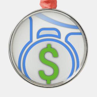 Kosten neer zilverkleurig rond ornament