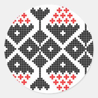 kostuum van het de dans geometrische motief van ronde sticker