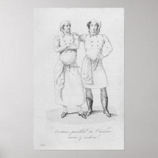 Kostuums van koks van verschillende era's poster