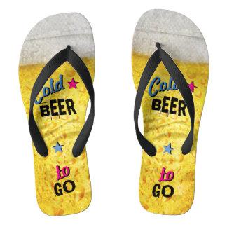Koud Bier om te gaan Teenslippers