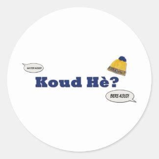Koud Hè? Ronde Stickers