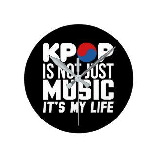 Kpop is Mijn (donkere) Grafiek van de Slogan van Ronde Klok