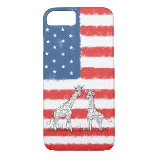 Krabbel van het Behoud van de Giraf van de Vlag iPhone 8/7 Hoesje