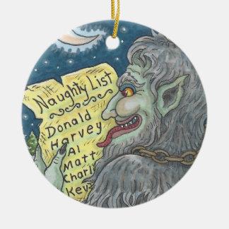 KRAMPUS het ONGEHOORZAME Ornament van Kerstmis van