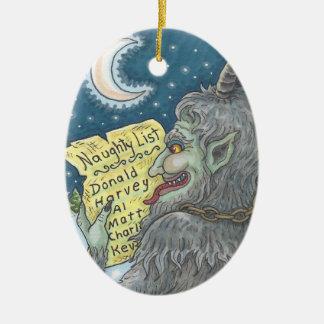 KRAMPUS het ONGEHOORZAME Ovaal van het Ornament
