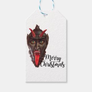 krampus vrolijke Kerstmis Cadeaulabel