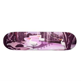 Kranen in de Koreaanse Tuin Skateboard Deck