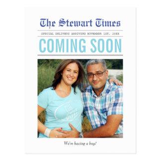 Krant | de Aankondiging van de Zwangerschap Briefkaart