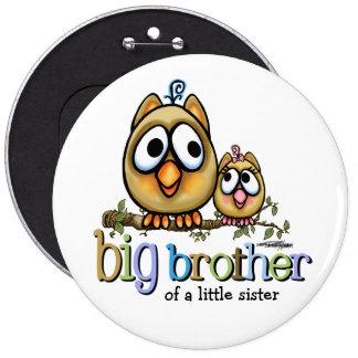 Krasgeluid voor Grote Broer - Sis van het Baby Ronde Button 6,0 Cm