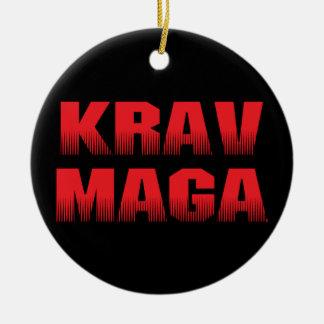 Krav Maga Rond Keramisch Ornament
