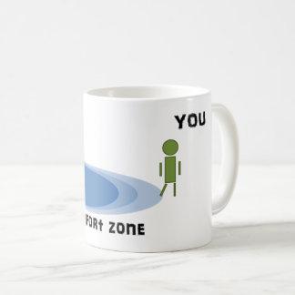 Krijg buiten uw comfortstreek koffiemok