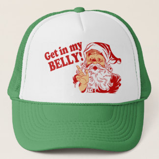 Krijg in Mijn Grappige Kerstmis van de Buik Trucker Pet