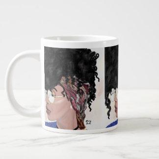 krijg los zwart meisjes magisch natuurlijk haar grote koffiekop