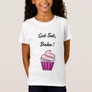 Krijg reeks bakken roze cupcake t shirt