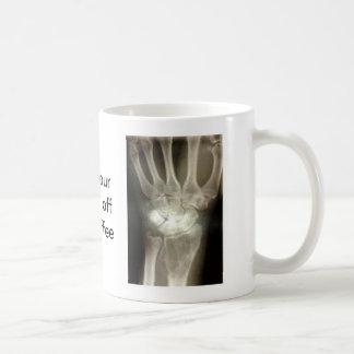 Krijg uw handen van mijn koffie koffiemok